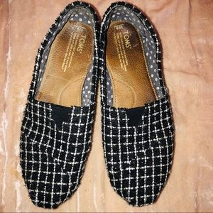 Shoes - Toms women's slip on 9 shoes checked black